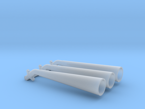 VW stinger 1/25 exhaust in Smooth Fine Detail Plastic
