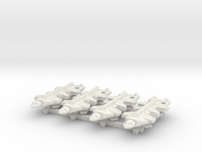 1/1000 Scale 2050 War Dragons x4 in White Natural Versatile Plastic