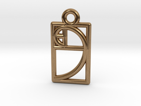 Golden Ratio Charm in Natural Brass