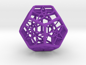 Dode Star in Purple Processed Versatile Plastic