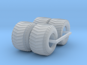 1/87 puller front and rear tires in Smooth Fine Detail Plastic