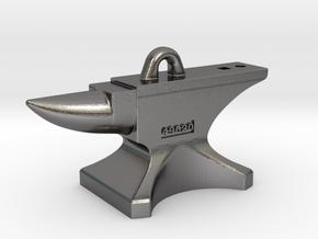 Anvil Pendant 2017 in Polished Nickel Steel