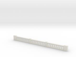 Top Center Rail 1-64 in White Natural Versatile Plastic