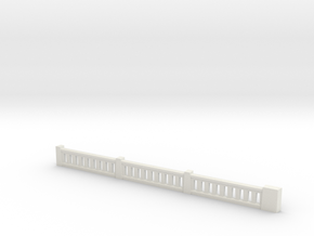 Top Corner Rail 1-64 in White Natural Versatile Plastic