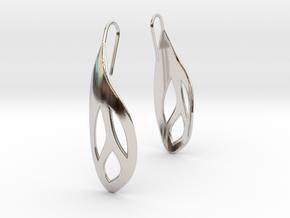 Flos earrings in Rhodium Plated Brass