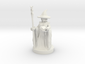 Gnome Female Wizard in White Natural Versatile Plastic