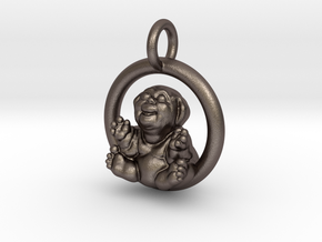 """Fubby"" Pendant in Polished Bronzed Silver Steel"