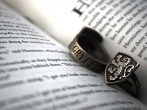 Gryffindor Ring Size 10 in Polished Bronzed Silver Steel