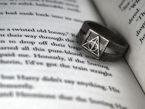 Deathly Hallows Ring Size 6 in Stainless Steel