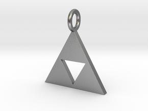 Zelda triforce in Natural Silver