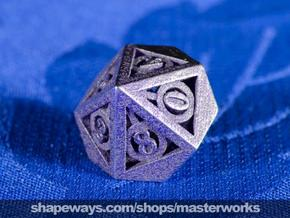 Deathly Hallows d10 in Polished Bronzed Silver Steel