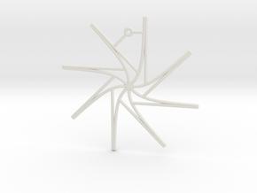 Tangent Ornament in White Natural Versatile Plastic