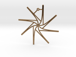 Tangent Ornament in Natural Brass