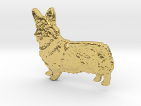 Cordial Corgi in Polished Brass