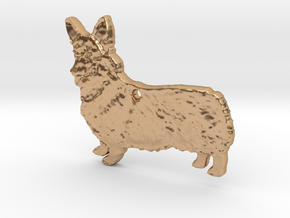 Cordial Corgi in Polished Bronze