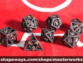Deathly Hallows Dice Set in Black Strong & Flexible