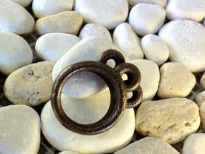 rings in Polished Bronze Steel