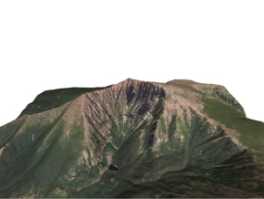 "Mount Katahdin Map: 6"" in Full Color Sandstone"