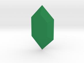 Zelda Rupee in Green Processed Versatile Plastic