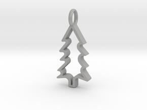 Christmas Tree - Pendant in Aluminum