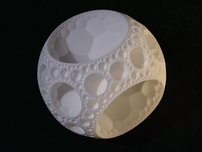 {7,3,3} Hyperbolic Honeycomb in White Natural Versatile Plastic