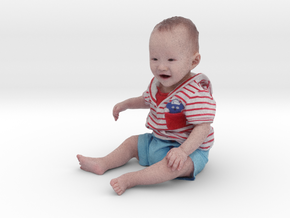Scanned 7 month old Baby boy_110mm High in Full Color Sandstone