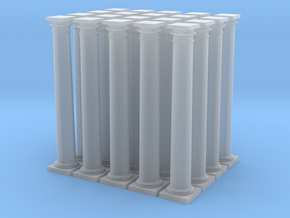 20 Doric Columns 20mm high in Smooth Fine Detail Plastic