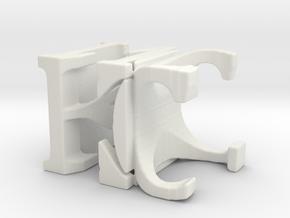 3dWordFlip: KC/NC in White Natural Versatile Plastic