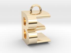 BE Monogram [pendant] in 14K Yellow Gold