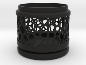 Gift Box No. 1 with Mosaic-3 (filigree, short) in Black Natural Versatile Plastic