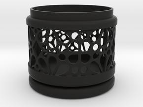 Gift Box No. 1 with Mosaic-3 (filigree, short) in Black Natural Versatile Plastic