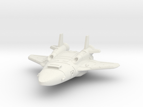Attack Shuttle in White Natural Versatile Plastic
