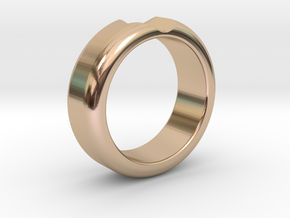 Ring in 14k Rose Gold Plated Brass