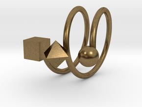 Trispirale size 54 in Natural Bronze