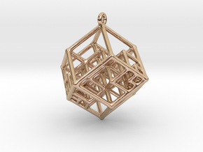Tesseract Earrings in 14k Rose Gold Plated
