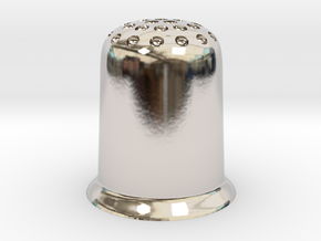 Thimble in Rhodium Plated Brass