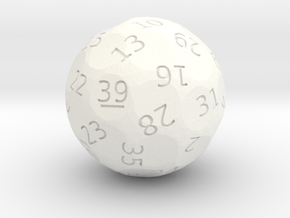d39 oddball die in White Strong & Flexible Polished