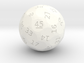 d45 oddball die in White Processed Versatile Plastic