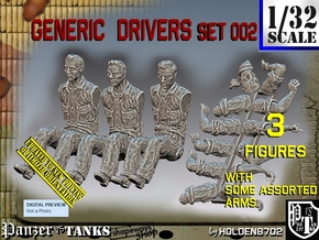 1/32 Civil Drivers Set002 in Smooth Fine Detail Plastic