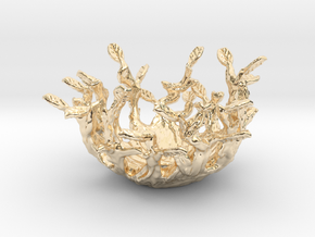 Beauty Nest in 14k Gold Plated Brass