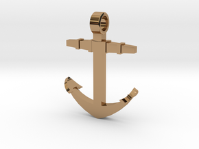 Boat anchor [pendant] in Polished Brass
