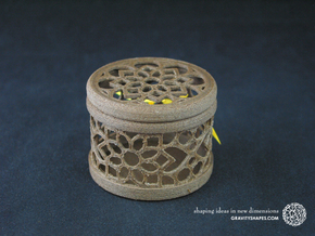 Gift Box No. 1 with Mosaic-2 (filigree, short) in Black Natural Versatile Plastic