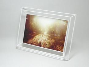 3D Photo Frame in White Natural Versatile Plastic
