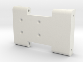 K-Class Crawler Skid Plate v1 in White Natural Versatile Plastic
