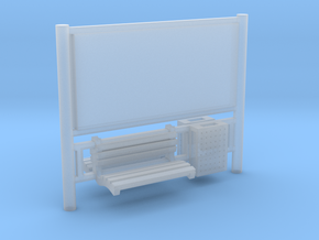 AFA JCDecaux Railboard in Smooth Fine Detail Plastic