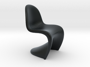 1/12 Doll House Chair Version 1 in Black Hi-Def Acrylate