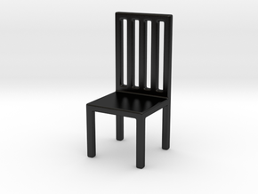 Chair Bookend in Matte Black Porcelain