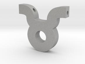 Taurus Symbol Pendant in Aluminum