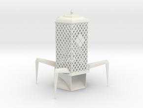 Diamond Pattern Palanquin Dice Tower in White Natural Versatile Plastic