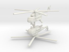 1/220 Mil Mi-17 Hip (x2) in White Natural Versatile Plastic